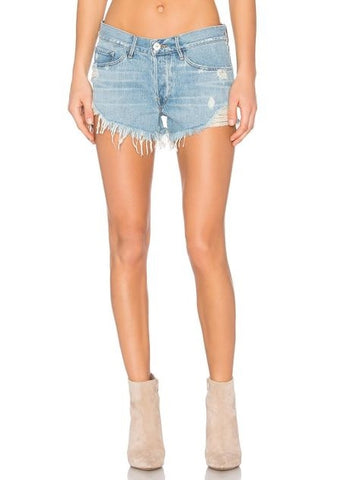 Lucky Brand The Rollup Shorts Blue Palms 30
