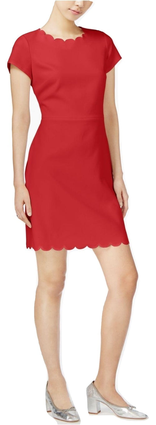 Maison Jules Scalloped Sheath Dress