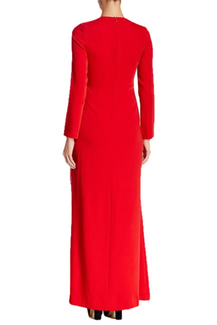Jill Stuart Garance Long Sleeve Maxi Dress Red 10