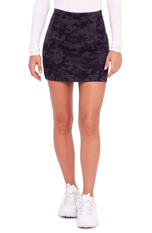 Free People Women's Denim Mini Skirt Black L