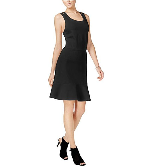 Bar III Crossback Fit & Flare Dress