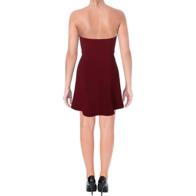 Bar lll Sweet Heart Fit & Flare Dress Garnet Dust 10 - Gear Relapse
