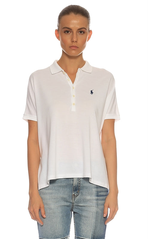 POLO RALPH LAUREN Women's Polo T-Shirt White L