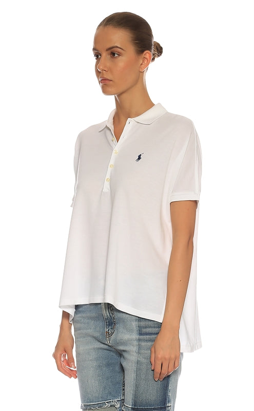 POLO RALPH LAUREN Polo T-Shirt White L