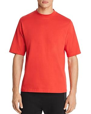 HELMUT LANG Military Mock Neck Short Sleeve Tee Red XXL