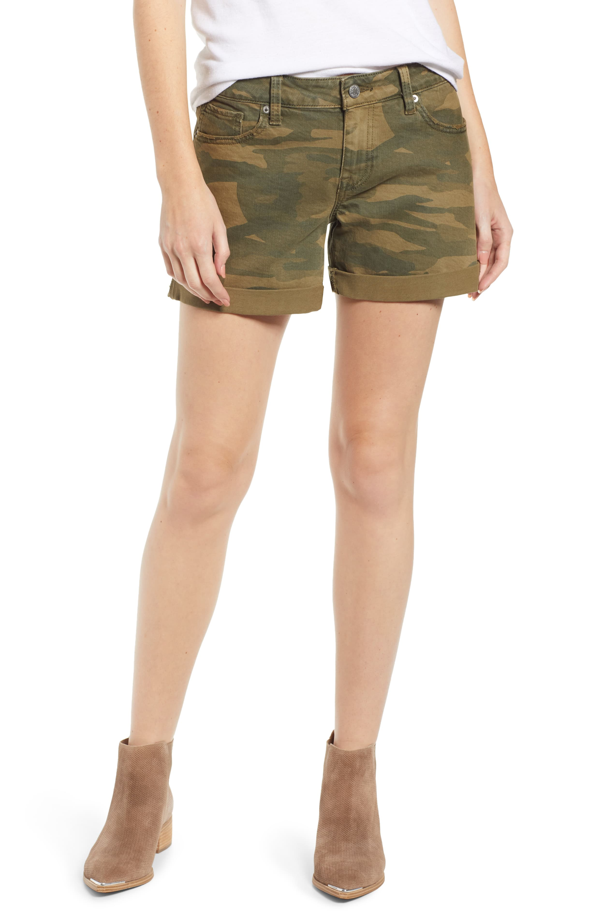 Lucky Brand Ava Camouflage-Print Denim Shorts 32