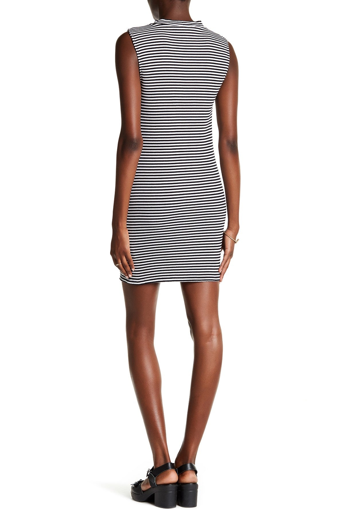 Kensie Women's Striped Ribbed Bodycon Dress