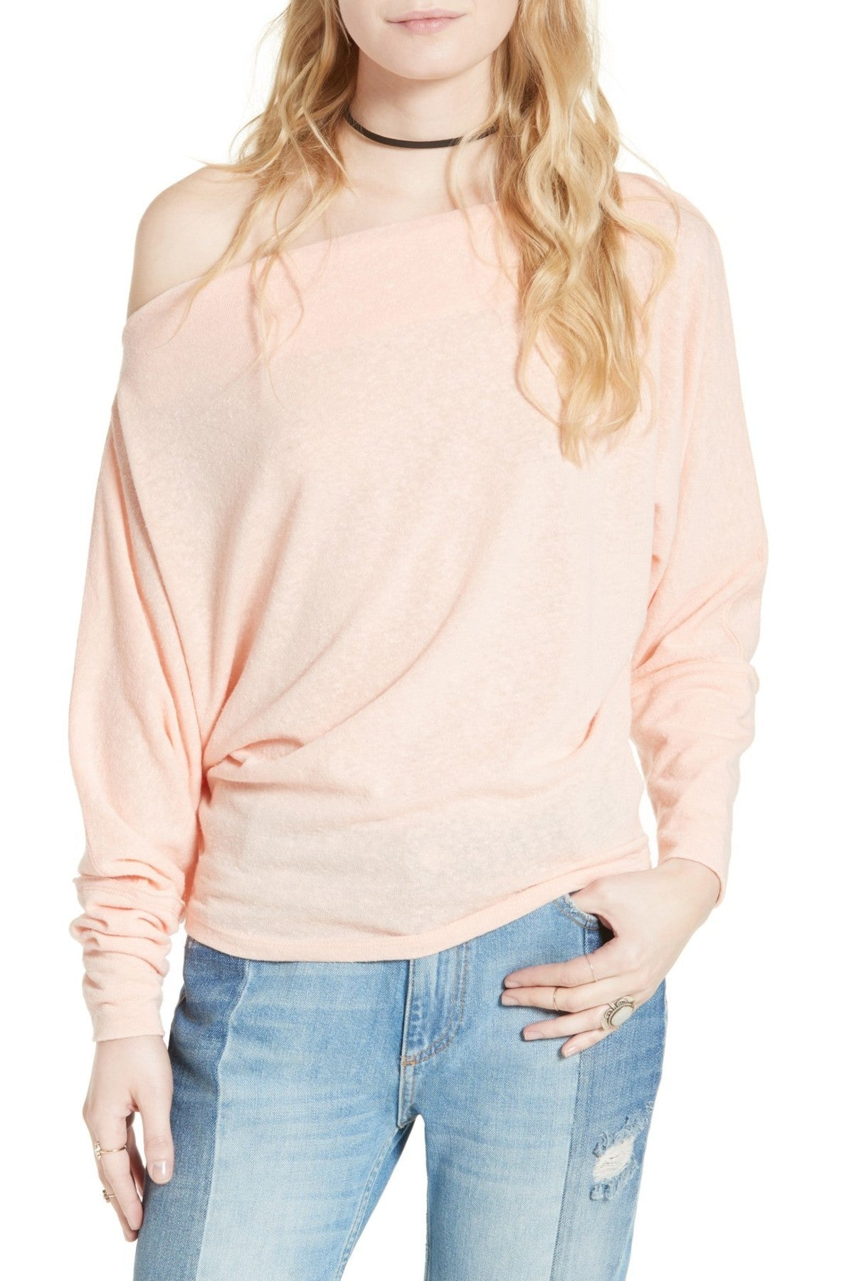 Free People Valencia Slouchy Top Apricot S - Gear Relapse