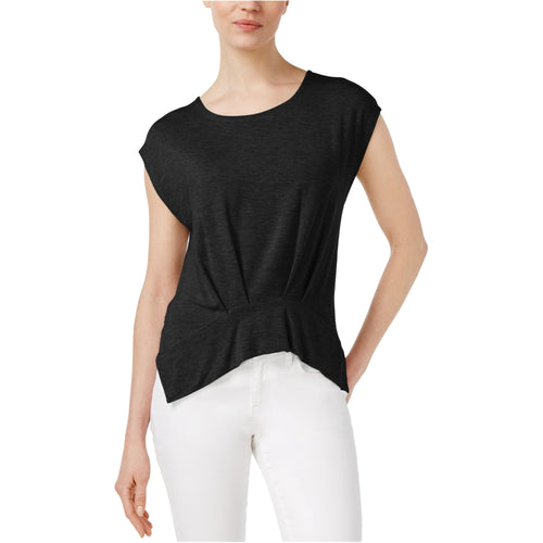 RACHEL Rachel Roy Women's Pleated T-Shirt Black