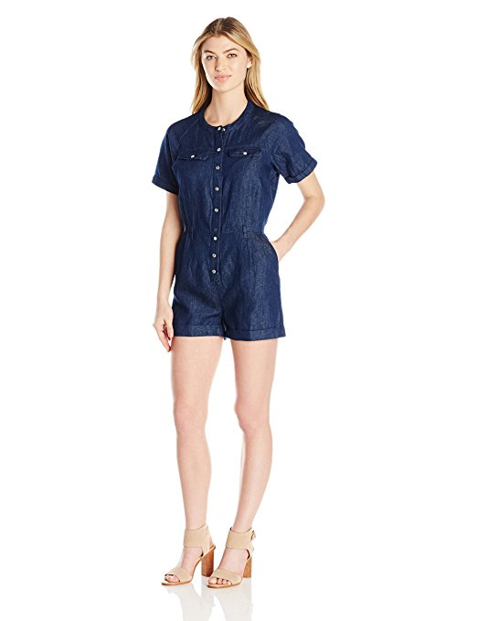 GUESS Boiler Chambray Romper Rinse Wash M - Gear Relapse