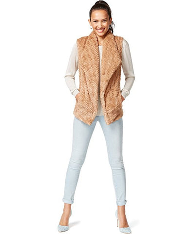 WildFlower Women's Faux Fur Lined Outerwear Vest