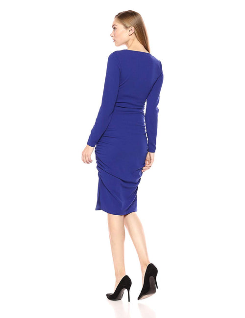 GUESS Women's Vivica Bodycon Dress Blue Iris XS