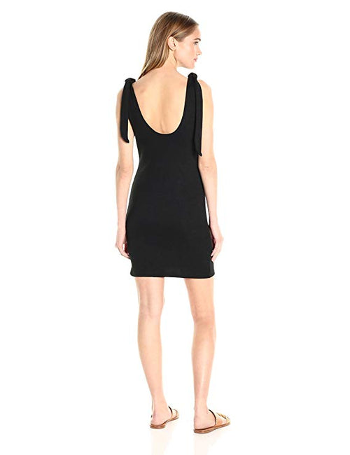 MINKPINK Tongue-Tied Tie-Strap Dress Black S