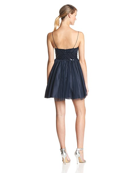 Aidan Mattox Sleeveless Beaded Top Party Dress Midnight 10