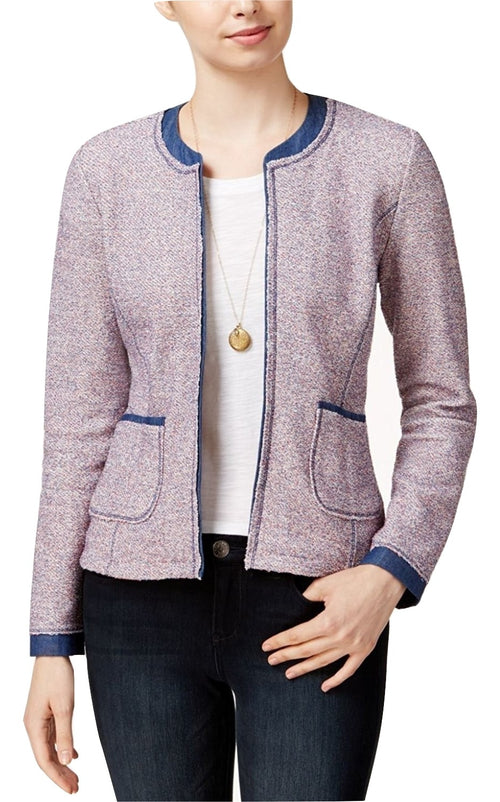 Maison Jules Tweed Denim Blazer Chambray Combo XL
