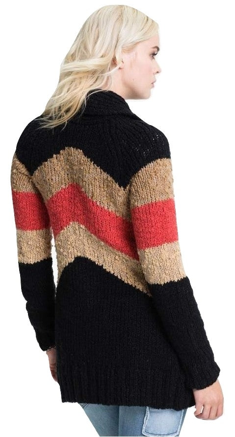 Free People Rocket High Boyfriend Cardigan Black Combo M - Gear Relapse