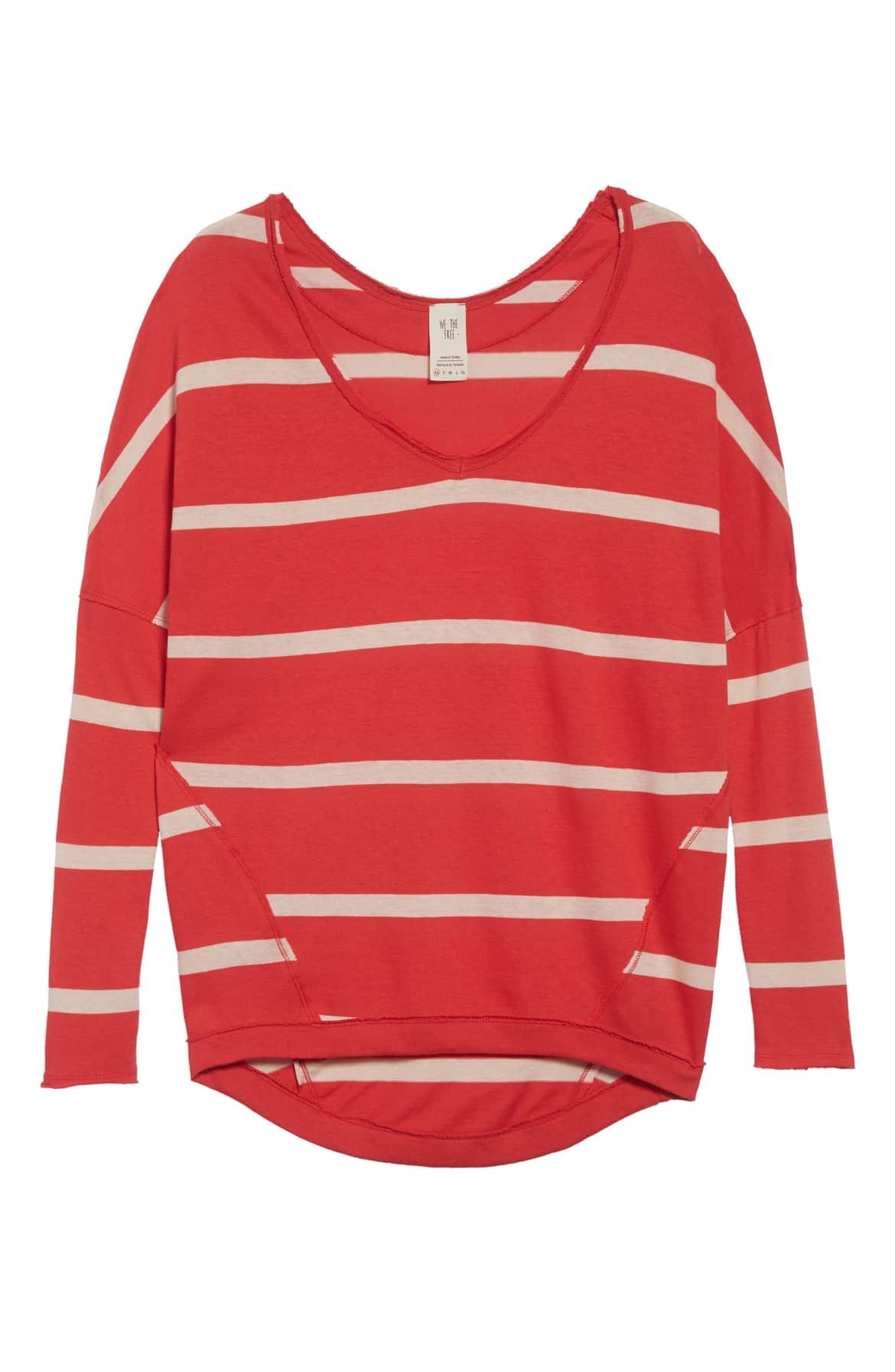 Free People Upstate Striped Long Sleeve Top Red - Gear Relapse