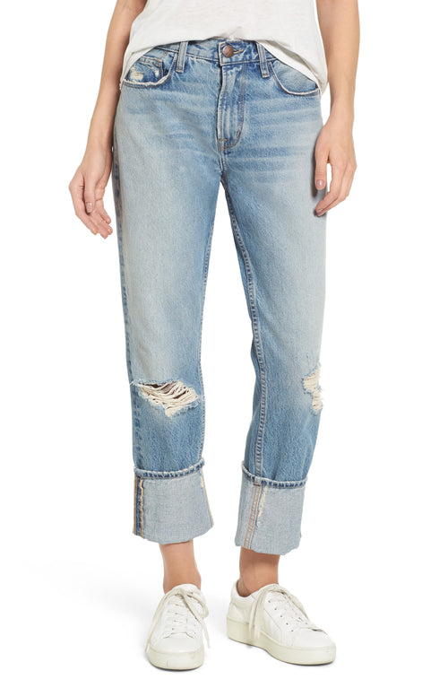 Current/Elliott The His Relaxed Boyfriend Ripped Jeans