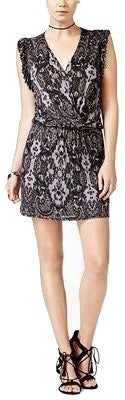 chelsea sky Frilled Printed Dress Black - Gear Relapse