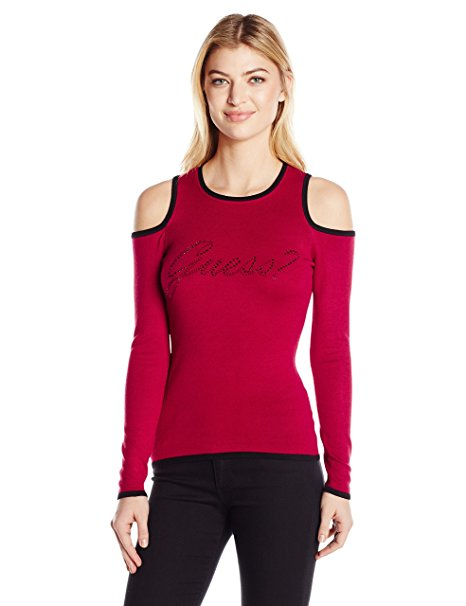 GUESS Holly Cold-Shoulder Graphic To Chili Red XS
