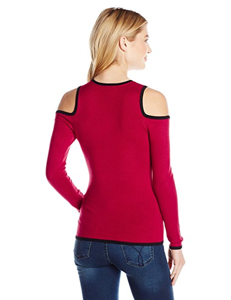 GUESS Holly Cold-Shoulder Graphic Top Chili Red XS