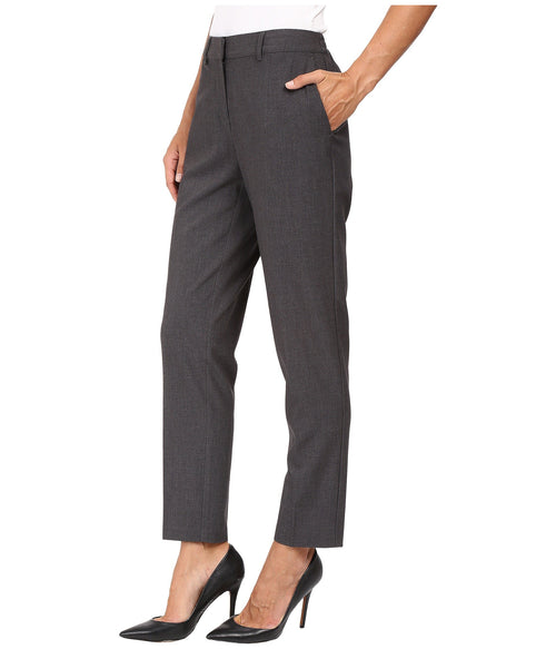 kensie Women's Stretch Crepe Ankle Pants Heather Grey L