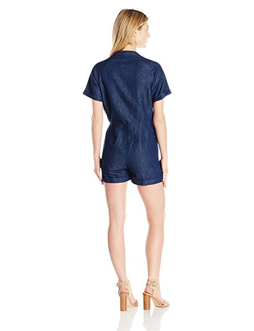 GUESS Boiler Chambray Romper Rinse Wash M