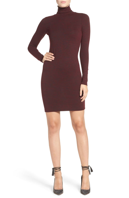 "FRENCH CONNECTION Women's ""Sweeter"" Turtleneck Sweater Dress Zinfandel L"