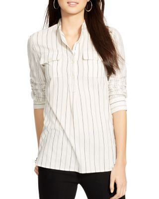 Lauren Ralph Lauren Women's Striped Tunic Cream Combo L