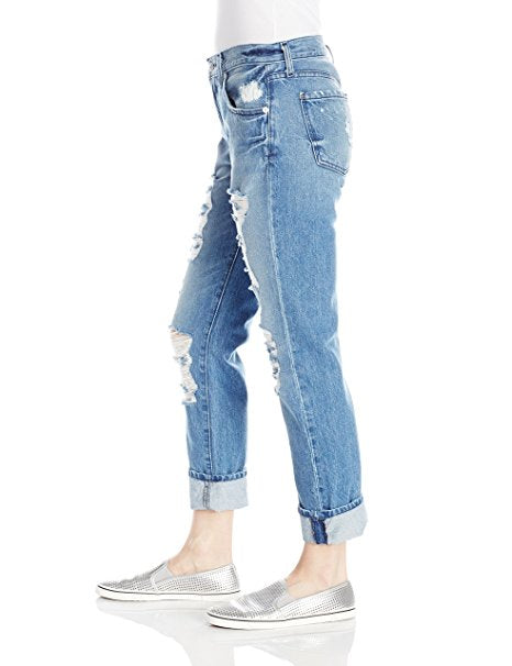 7 For All Mankind Relaxed Skinny Shredding in Rigid Vintage Indigo 30
