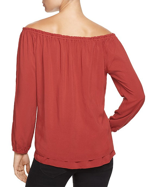 Sanctuary Women's Chantel Split-Sleeve Top Brooklyn Brick XL