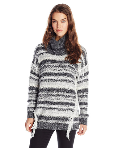 Lucky Brand Layered Metallic-Detail Sweater Silver L