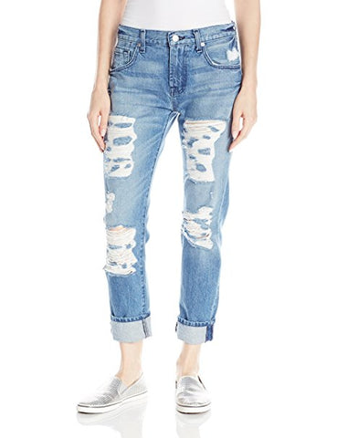 7 For All Mankind The Josefina Skinny Boyfriend Jeans Light Blue