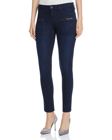 Hudson Barbara High Waist Ankle Skinny Jeans Optic White