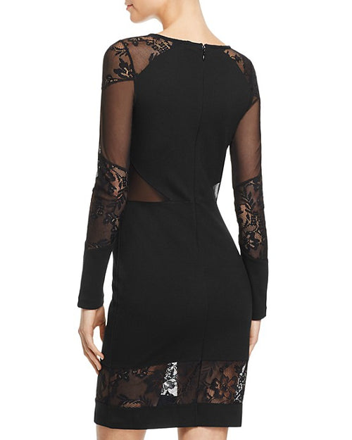 FRENCH CONNECTION Tatlin Beau Lace-Inset Dress Black - Gear Relapse