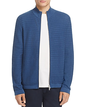 Theory Avell Breach Herringbone Zip Cardigan Blue S