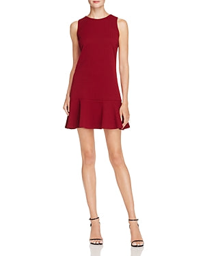 Aqua Womens Sleeveless Mini Party Dress Burgundy XS - Gear Relapse