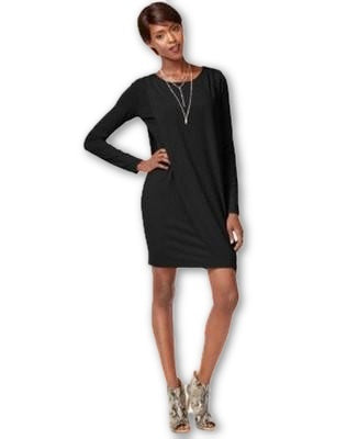 Bar Ill Long-Sleeve Draped Shift Dress XS - Gear Relapse