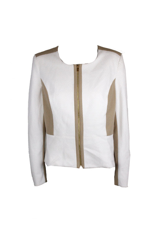 Calvin Klein Textured Jacket White Combo 14 - Gear Relapse