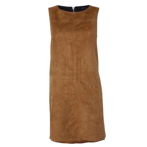 Sanctuary Village Faux Suede Shift Dress Maple XS