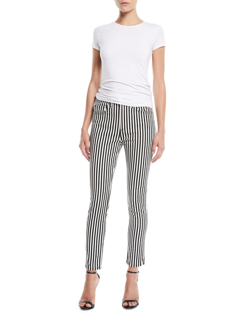 rag & bone Women's High-Rise Ankle Skinny Jeans in Oba Stripe