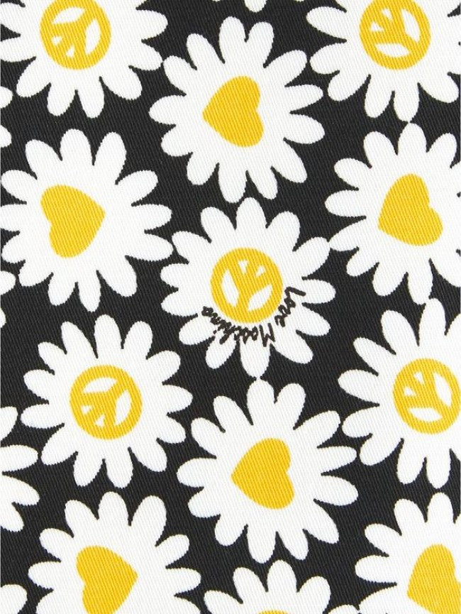 Love Moschino Women's Daisy-Print Mini Fit & Flare Dress Black 4