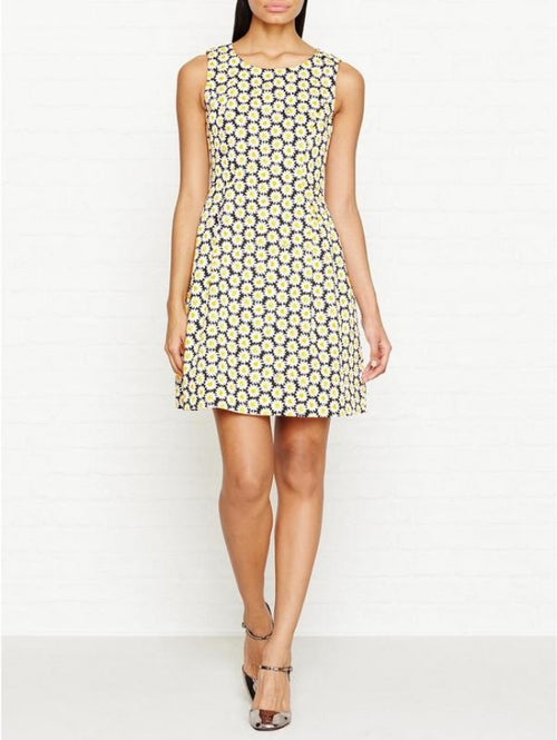 Love Moschino Daisy-Print Mini Fit & Flare Dress Black 4