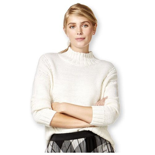 Maison Jules Women's Mock-Turtleneck Knit Sweater - Gear Relapse