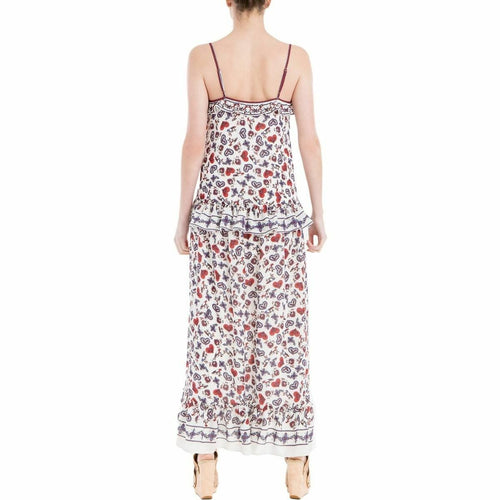 Max Studio Women's London Ruffled Maxi Heart Dress Multi