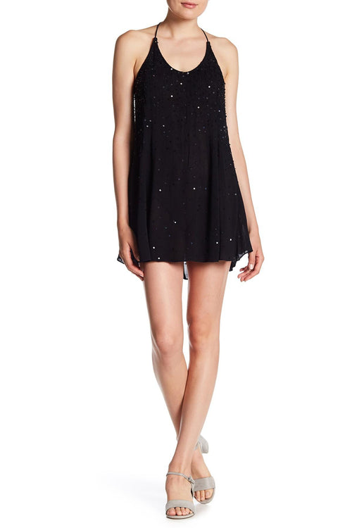 Free People Embellished Slip Dress Black XS - Gear Relapse