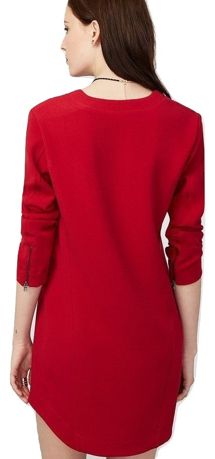 RACHEL Rachel Roy Women's V-Neck Long Sleeve Shift Dress Passion 0