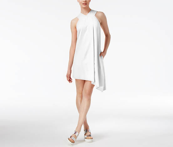 RACHEL Rachel Roy Women's Asymmetrical Shift Dress White XXL