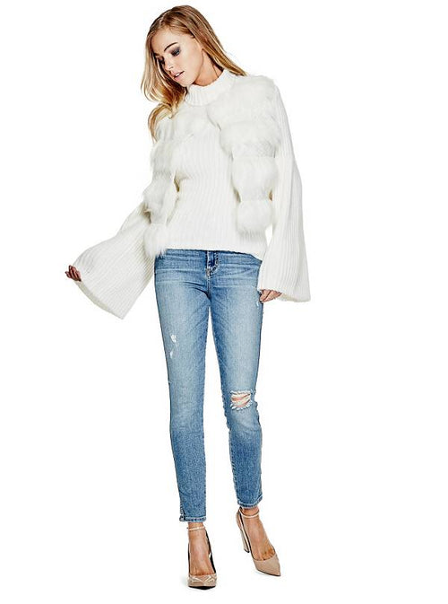 GUESS Sophia Faux-Fur Vest Scuffy Multi L