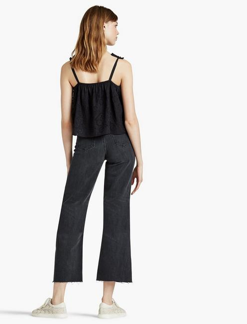 Lucky Brand Women's Cropped Wide-Leg Jeans Humbled Black 27